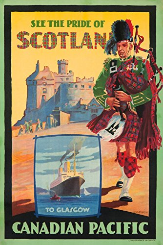 Canadian Pacific - See the Pride of Scotland Vintage Poster (artist: Finch) (9x12 Art Print, Wall Decor Travel Poster) (Scotland Print Vintage)