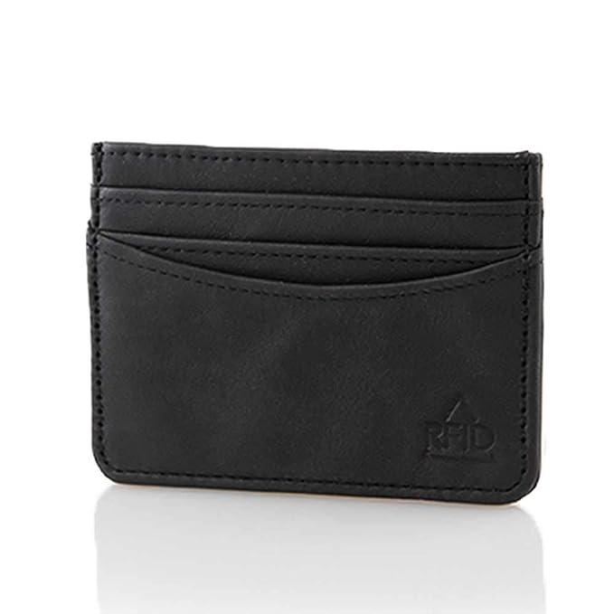 Amazon.com: allett Funda de piel RFID Tarjeta de Crédito de ...