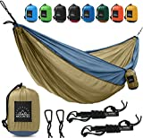 """Double Camping hammock 118"""" 78"""" with Hammock Straps - designed by backpackers for backpacking travel  Any experienced adventurer and tourist knows what is important when it comes to the gear that tags along - and this hanging lightweight parachute h..."""