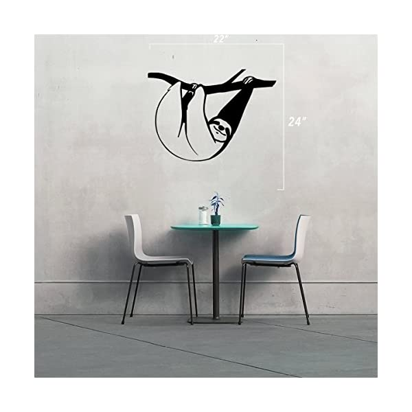 Stickany (2X) Wall Series Sloth Hanging Sticker For Windows, Rooms, And More! (Blue) -