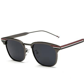 a23b30ad30 Gafas de sol @Gafas Gafas de sol polarizadas, Hombres y Mujeres  Personalidad Simple,