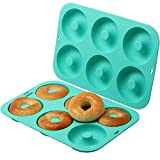 HOMKOM - Silicone Donut Baking Pan/Non-Stick Donut...