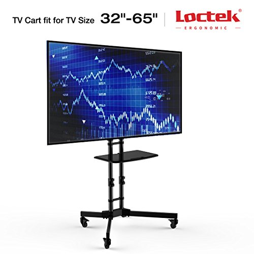 Loctek P3B Universal Mobile TV Cart TV Stand for LED, LCD, P