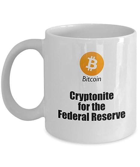 Amazon.com: Bitcoin Coffee Mug - Federal Reserve Gag Joke ...
