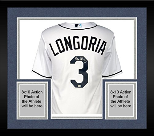 Framed Evan Longoria Tampa Bay Rays Autographed Majestic Replica White Jersey - Fanatics Authentic Certified
