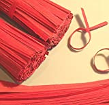 2000pcs 7'' Paper Red Twist Ties