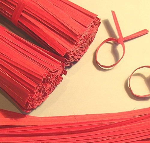 2000pcs 7'' Paper Red Twist Ties