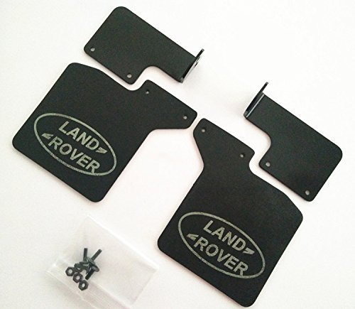 CrazyRacer Defender D110 Mud Flaps Guards With Stainless Steel Holder Rear (2) For 1/10 RC Car TRX/4 Traxas