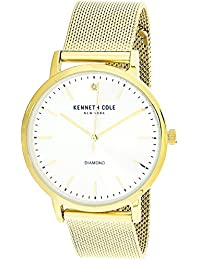 Men's KCC0120002 Gold Stainless-Steel Japanese Quartz Fashion Watch