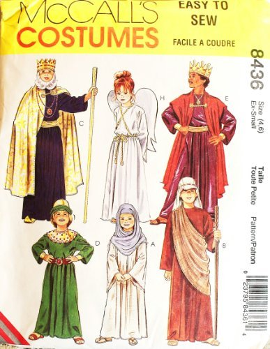 McCall's Sewing Pattern #8436: Children's Costumes: Biblical Characters, Wise Men, Magi, Mary, Angel, Shepherd by McCall's Pattern (Magi Costumes)