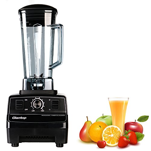 8. Glantop® Official Professional Commercial Blender (Black, 2200W, 2L)
