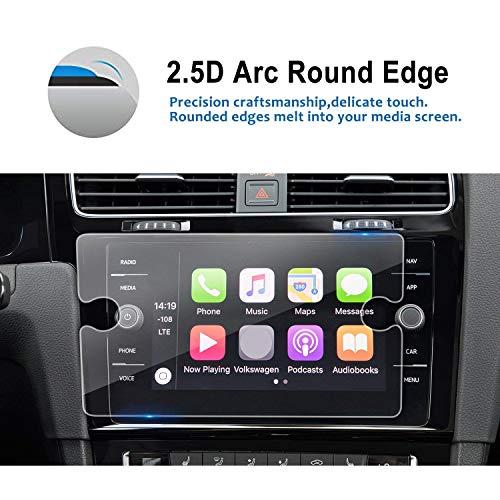 2018 Volkswagen Golf 7 Golf GTI Golf SportWagen 8 Inch Center Touch Screen Protector, LFOTPP Tempered Glass in-Dash Clear Screen Protector