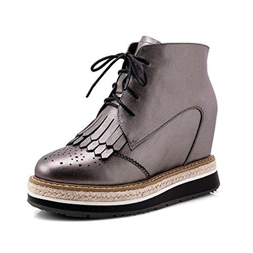 Lace Tassels Wedge Gun Shoes Platform Women's Brogue up Oxfords VASHOP 5xwa6Tq44