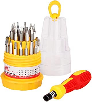 31 in 1 Electronic Hand Tool Kit Screwdriver Bits Set Opening Repair Tool