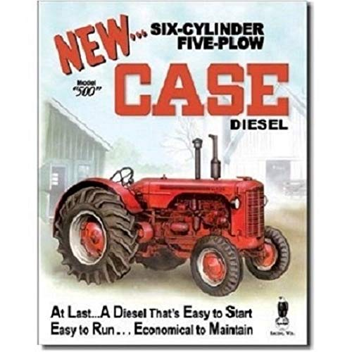 Case 500 Diesel Barn Farm Tractor Retro Vintage Style Advertising Metal Tin Sign TIN Sign 7.8X11.8 INCH