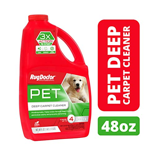 Rug Doctor Pet Deep Cleaner, Carpet Cleaning Solution for Rug Doctor Rentals, Pro-Enzymic Formula Professionally Cleans Pet and Organic Stains and Permanently Removes Odors, 48 oz. from Rug Doctor