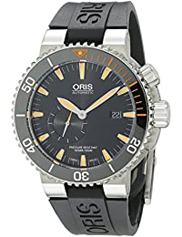 Mens 74377097184RS Analog Display Swiss Automatic Black Watch. Oris