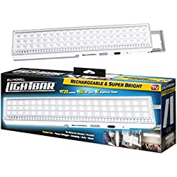 "Bell + Howell Light Bar 60 LEDs with Super Bright 720 Lumen Output – All Day Power, Rechargeable with Auto Light Sensor, XL 16.5"" Size with Kickstand"