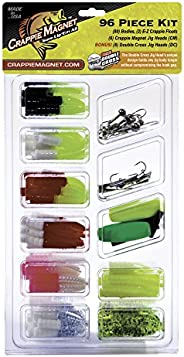Crappie Magnet 96-Piece Kit - 80 Bodies, 2 E-Z Floats, 6 Crappie Magnet Jig Heads, 8 Double Cross Jig Heads