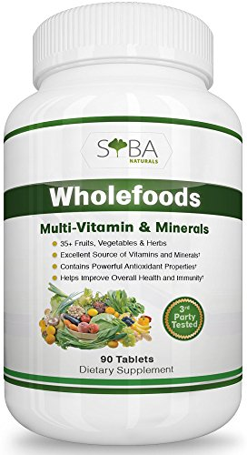 Wholefood Multivitamin For Men and Women - Extreme Absorption for Optimum Health - Enriched Whole Foods with 35+ Fruits, Vegetables, and Herbs Sources - High in Essential Vitamins and Minerals