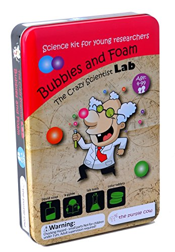 The Purple Cow Crazy Scientist Bubbles and Foam - Science Kits for Young Researchers (Wild Science Kit)