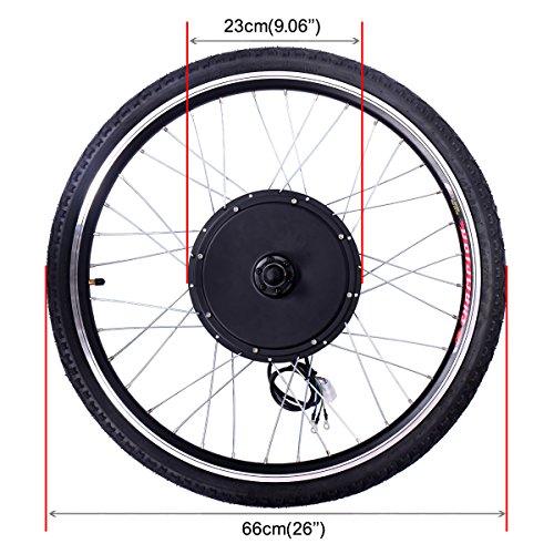 Jaxpety 48v 1000w electric bicycle cycle e bike 26 front for Electric bike rear hub motor