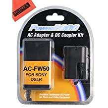 DC Coupler and AC Adapter Kit for Sony ILCE-QX1 Alpha 7 A7R A7R II A7S A7II A3000 A5000 A5100 A6000 NEX3 NEXC3 NEXF3K NEX5 NEX5K NEX5N NEX5T NEX5TL NEX6 NEX7 SLTA33 SLTA35 SLTA37 SLTA55 Digital Camera