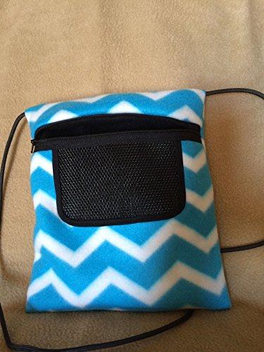 Bonding Pouch Blue Chevron Fleece Sugar Glider Pouch Bag 8 X 9 Seamless