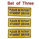 Korlen Highly Reflective Student Driver magnet Car Safety Caution Sign (Set of 3)