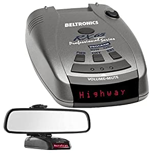Beltronics RX65 Red Professional Series Radar/Laser Detector with RadarMount Car Mirror Mount Bracket For Radar Detectors
