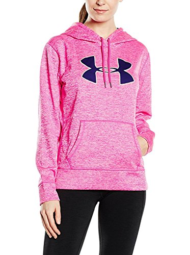 Under Armour Women's Armour Fleece Big Logo Twist Hoodie Rebel Pink Size MD