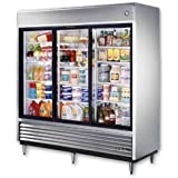 True S/S 69 Cu Ft Reach-In Refrigerator w/ 2-Glass Sliding Doors
