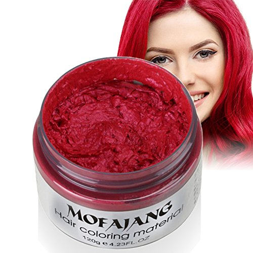 Sunsent 7 Colors Hair Care Hair Wax Matte Hairstyle Pomades (Red)