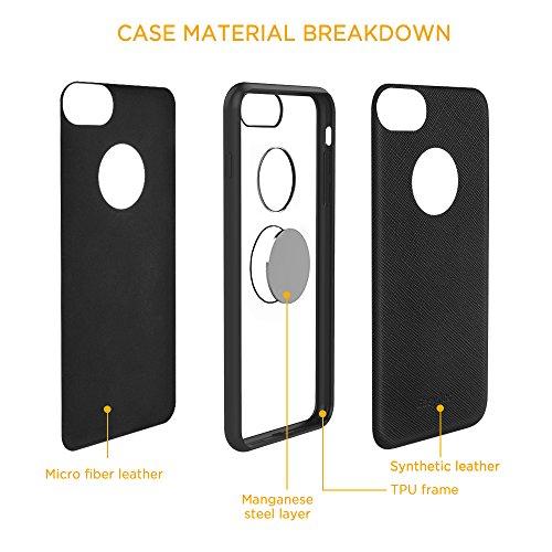 iPhone 7 Custodia, Easyacc per Plustettiva Case Cover con Piastra Magnetica di Acciaio al Manganese Su Misura per iPhone 7 - Nera