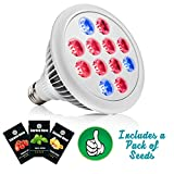 Garden Nova LED Grow Light Bulb for Indoor Plants – Best Spectrum for Seedling Vegetables Herbs- Hydroponics Growing- Includes MADE IN THE USA Seeds Packet Bonus