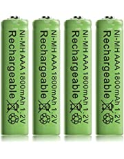 XCSOURCE 4pcs Ni-MH AAA 1800mah 1.2V Rechargeable Batteries Battery Nickel Hydride RC1030