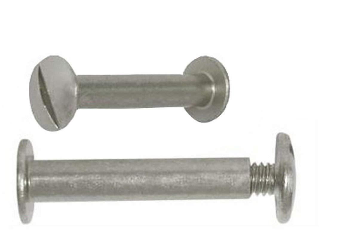 SMLTH Quality 50-Sets Aluminum Binding Post//Screw//Chicago Binder Screw//Post # 8-32 X 3//4