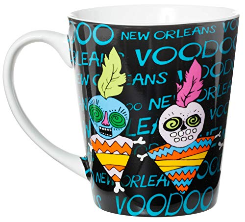 - New Orleans Voodoo Doll Tapered Style Ceramic Souvenir Coffee Mug