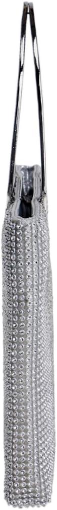 MKHDD Womens Clutch Evening Bag Beaded Flap Handbag Crystal Rhinestone Purse Party Wedding Clutch Purses