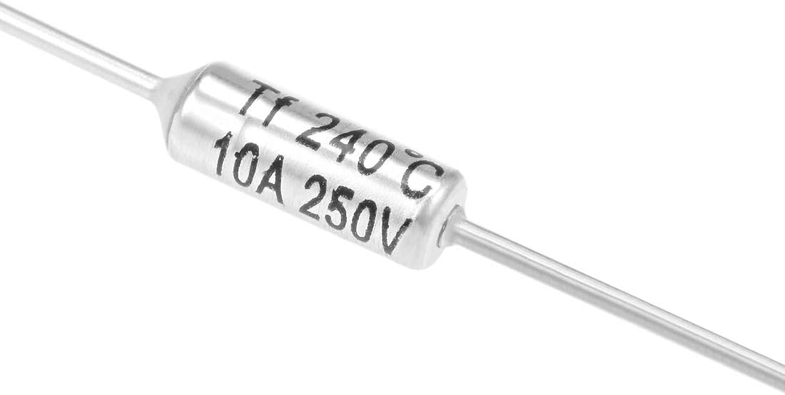 uxcell Thermal Fuse 250V 10A TF 240 Celsius Degree Temperature Electrical Circuit Cutoff 10pcs