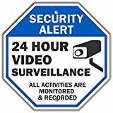 'Security Alert - 24 Hour Video Surveillance, All Activities Monitored' Sign By SmartSign | 10' x 10' Aluminum