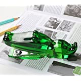(German Design)Crocodile Stapler. Adorable alligator shape. Crystal clear, adorable stapler, excellent quality, smooth and comfortable to hold. Creative design and fun to use. The perfect desktop pet(green)