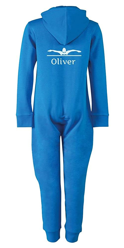 iClobber Swimming Butterfly Stroke Onesie Personalised with Your Name and Initials
