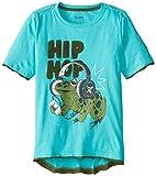 Hatley Little Boys' Boys Graphic Tee Hip Hop Frog, Blue, 4T