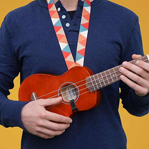 Hola! Music HM-21MG Soprano Ukulele Bundle with Canvas Tote Bag, Strap and Picks, Color Series - Mahogany by Hola! Music (Image #6)