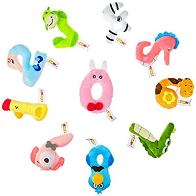 Klassmix Number Crunchers Car Seat Toys - 10 Pieces - Number Shaped Stuffed Animals for Baby, Toddler, & Infant Strollers and Carseats - Educational Plush Toy - All Ages Including 0-6 Months by KLASSMIX that we recomend personally.