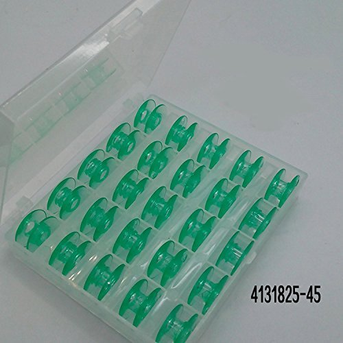 25 Green bobbins In Box for Viking Husqvarna sewing machines Plastic 4131825-45 (Viking Sewing Machine Parts)