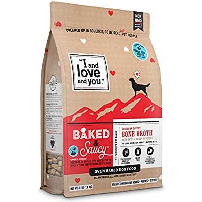 """I and love and you"" Baked & Saucy Grain Free Kibble Dry Dog Food with Gravy Coating (Variety of Flavors)"