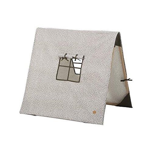 Ferm Living - Spielzelt Dot - Grau - Baumwolle - Holz 100 x 100 cm