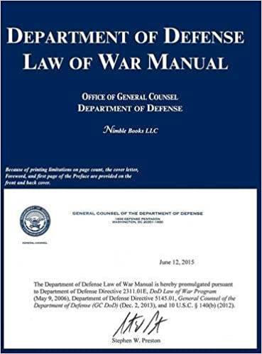 Department of Defense Law of War Manual: OGC Department of Defense ...